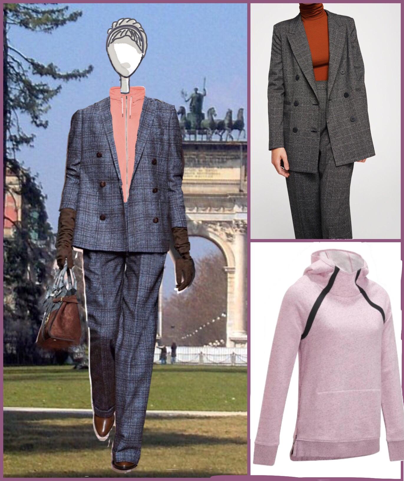 tailleur maschile con felpa