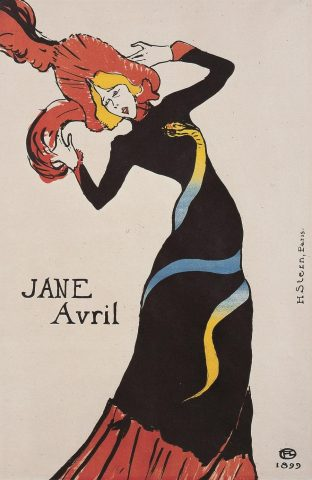Jane avril toulouse lautrec