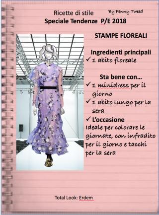 TENDENZE 2018: STAMPE FLOREALI