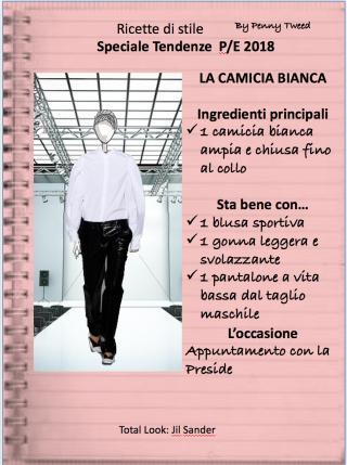 TENDENZE 2018: LA CAMICIA BIANCA