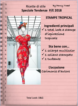 TENDENZE 2018: STAMPE TROPICAL