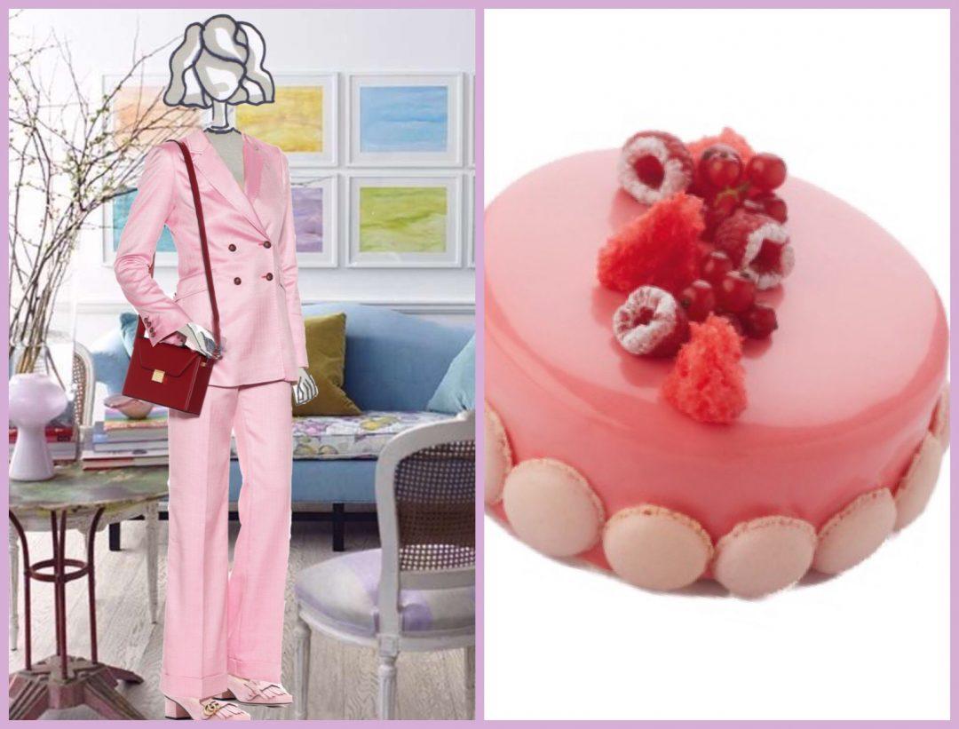 torta con glassa rosa