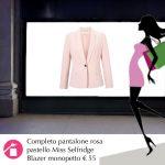 Il blazer rosa pastello