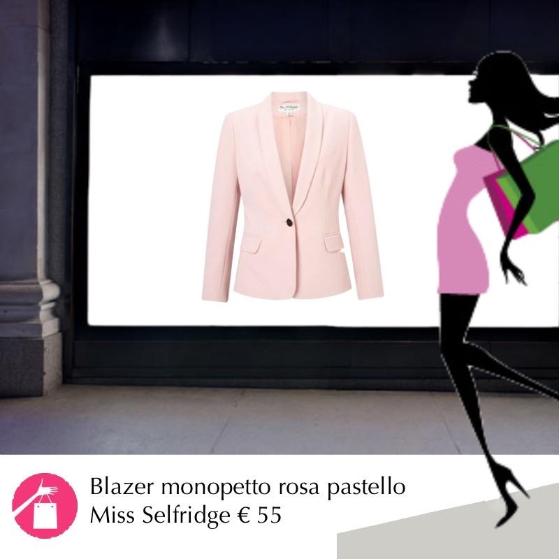 blazer rosa pastello 2018