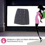 La minigonna a righe