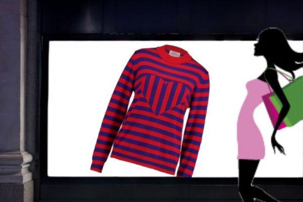 maglione righe