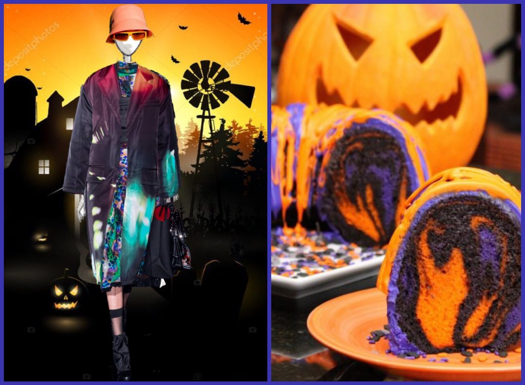 halloween pennellate di colore flu