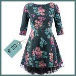 Il vestito a fiori con la sottogonna in tulle