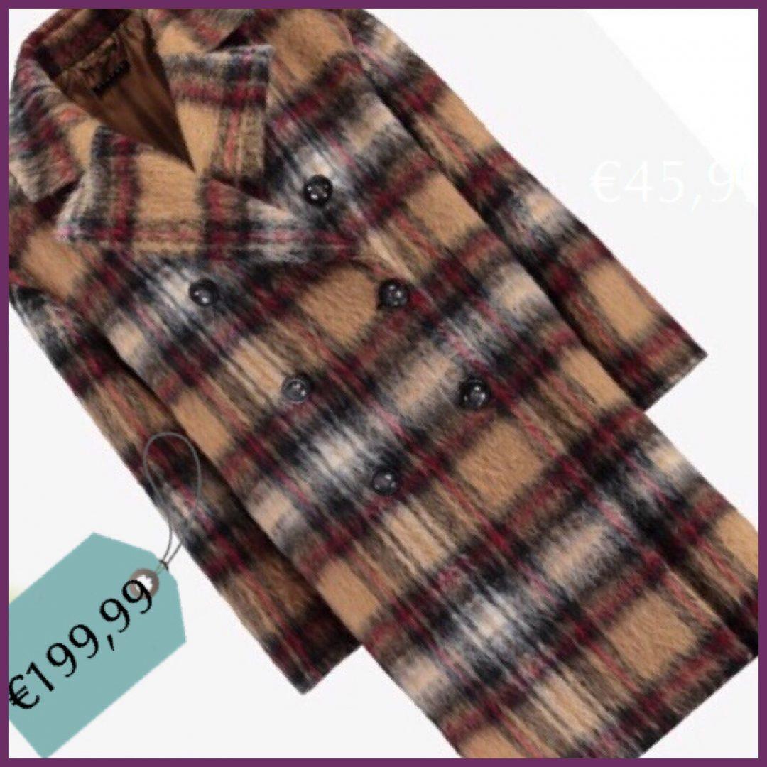 Il cappotto tartan in mohair