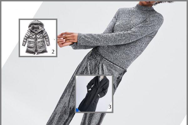 completo pantalone metal argento
