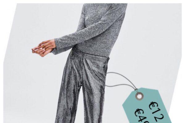 completo maglia pantalone argento