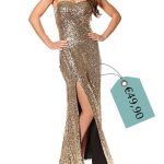 vestito d'oro per le feste