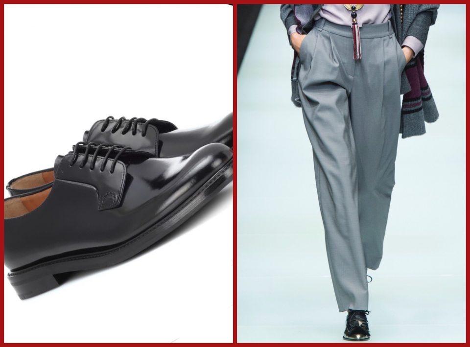 come indossare le scarpe stringate