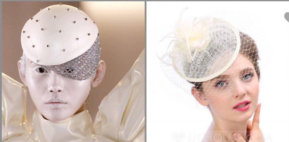 dettagli dall'haute couture fascinator veletta