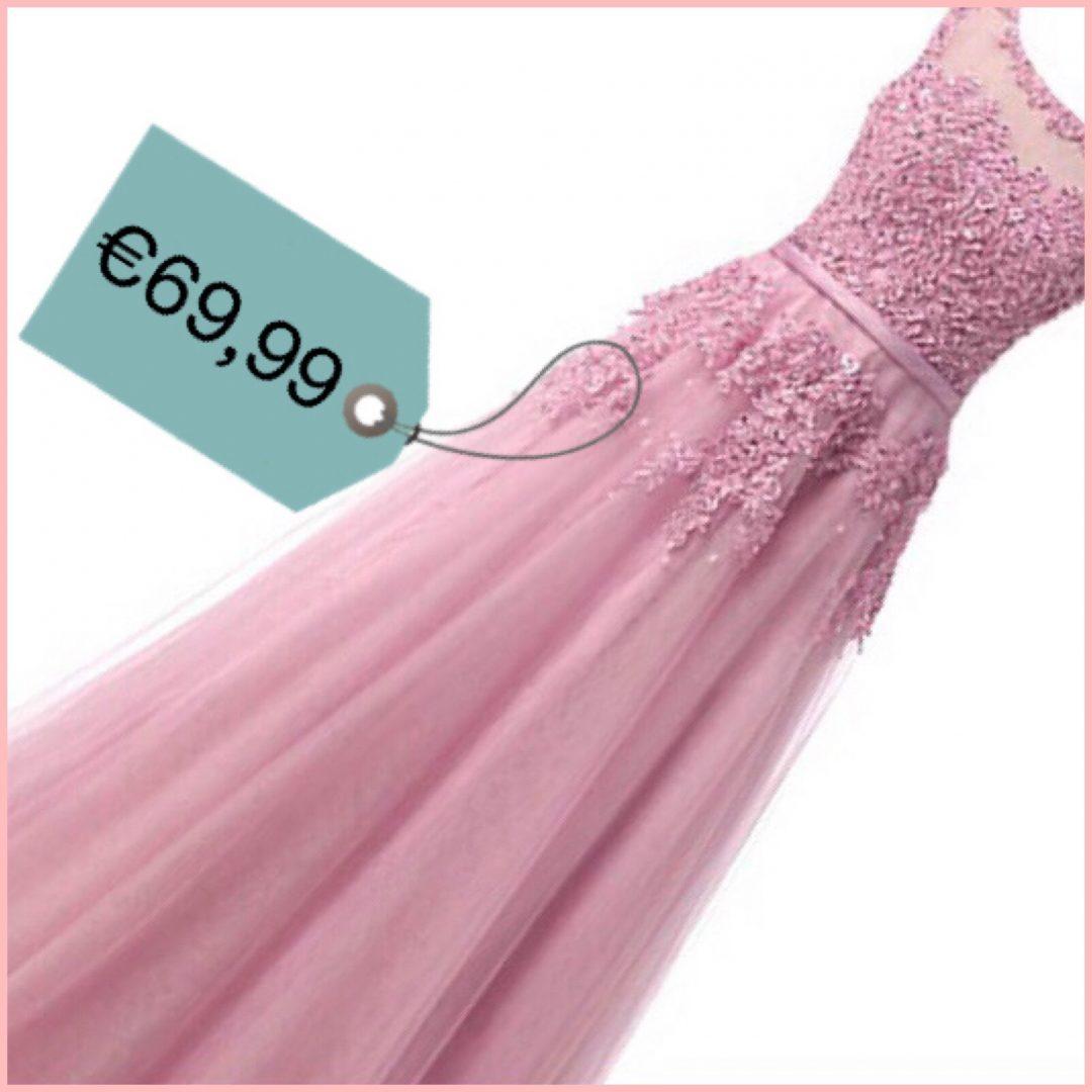 abito sposa rosa ricami