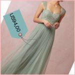 Il vestito da sposa verde acqua