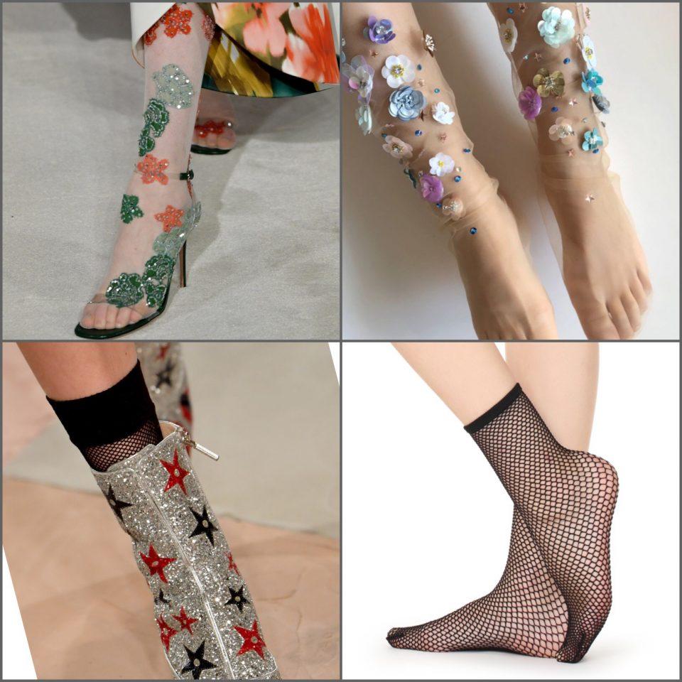 dettagli dall'haute couture calze decor rete
