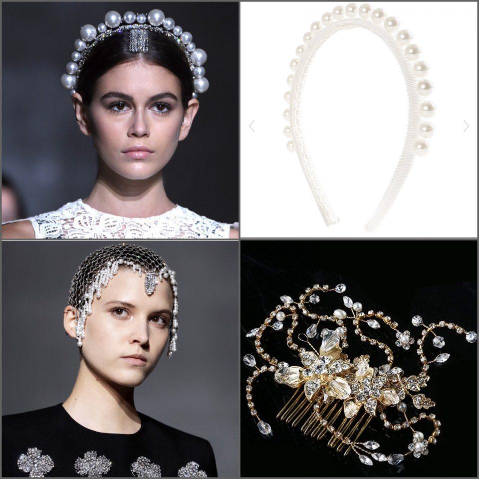 dettagli dall'haute couture hair decor