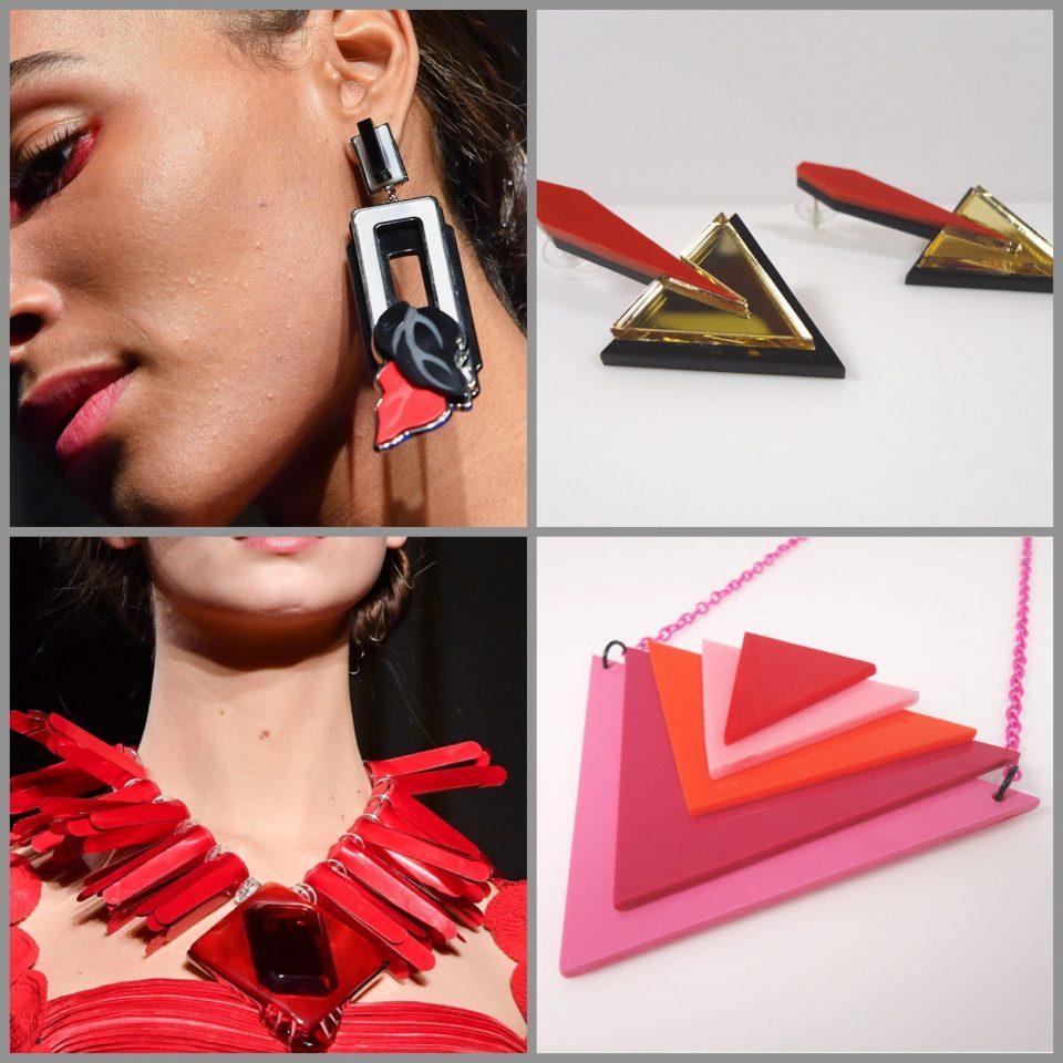 dettagli dall'haute couture gioielli resina plexiglas