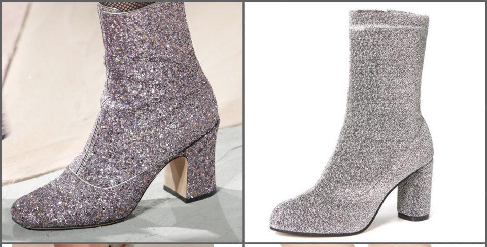 dettagli dall'haute couture stivaletti glitter