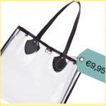 La borsa shopper trasparente