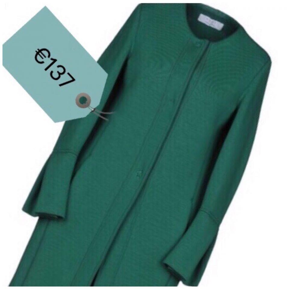 soprabito coat scollato verde