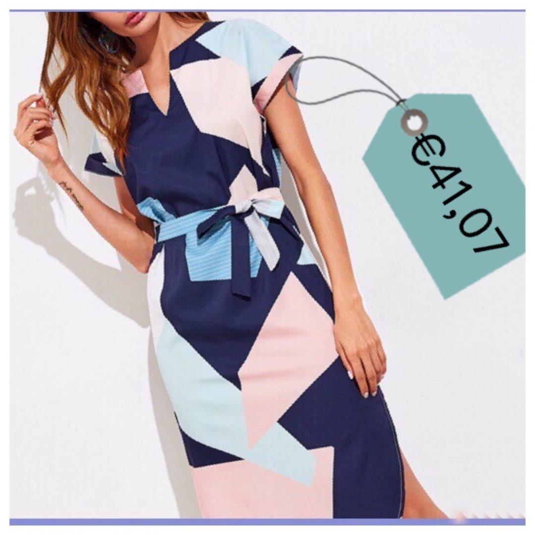 vestito stampa geometrica