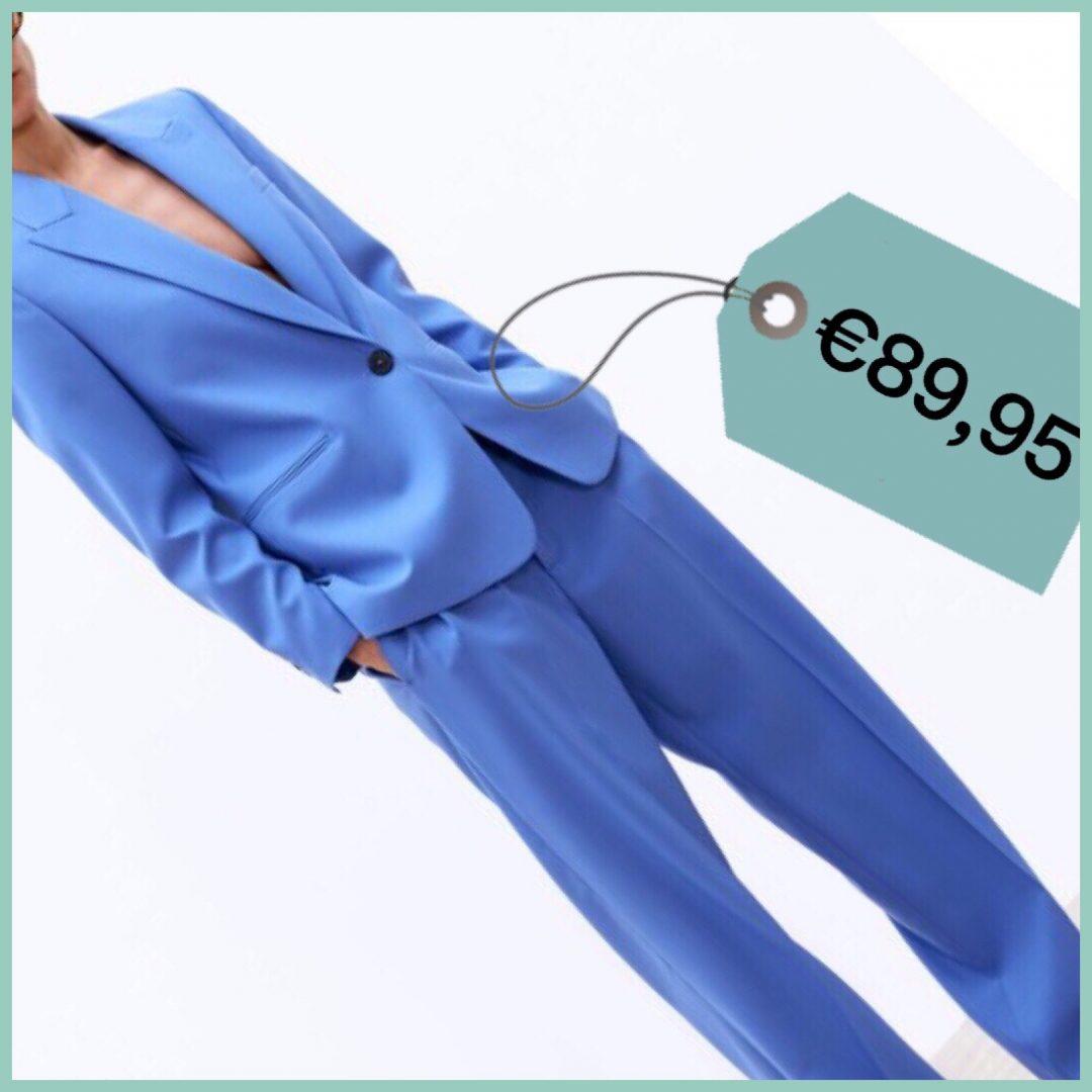 completo blazer pantalone azzurro