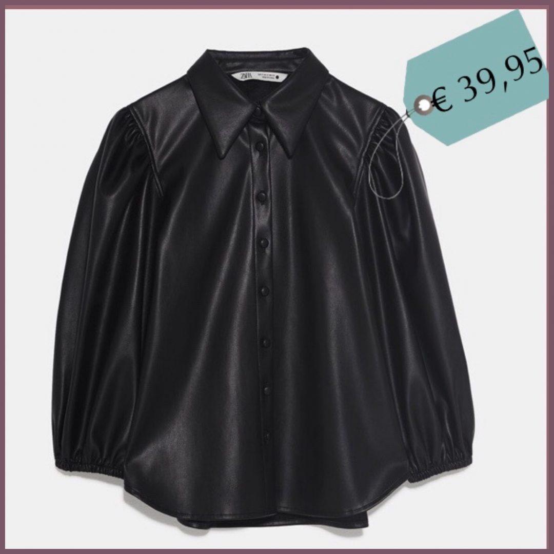 La camicia in ecopelle